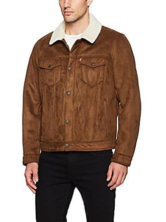 Levi's Mens Faux Shearling Sherpa Trucker Jacket, Chestnut, XX-Large