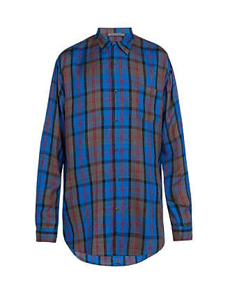 9de52b4e6f Denis Colomb Checked Silk Shirt - Mens - Multi