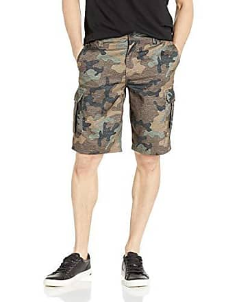 O'Neill Mens 21 Inch Outseam Cargo Pocket Hybrid Stretch Walk Short, Camo/Ranger, 42
