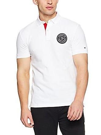 bab61916 Tommy Hilfiger Mens Badge Appliqué Cotton Polo, Bright White, X-Large