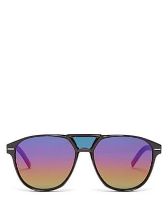 Lunettes Dior Blacktie Aviator Acetate Sunglasses - Mens - Black