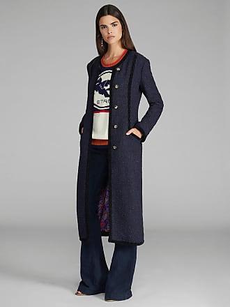 Etro Frisé Coat With Pegaso Buttons, Woman, Navy Blue, Size 38
