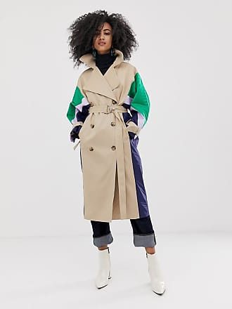 2674365b54a Asos trench coat with quilted shell suit panels - Multi