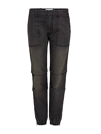 Nili Lotan French Military Cropped Jeans Smoke Wash