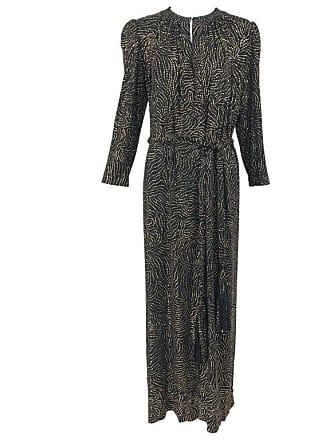 6770c59149 1stdibs Racine Paris Black And Gold Glitter Maxi Dress With Tassel Belt  1970s