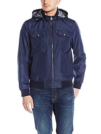 Levi's Mens Synthetic Hooded Jacket, Navy, Small