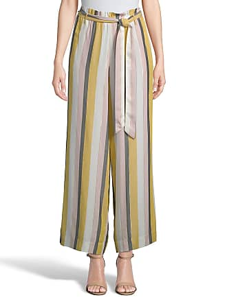 5twelve Striped Wide-Leg Ankle Pants with Self-Tie Belt