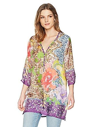 Johnny Was Womens Aria Blouse, Multi, M