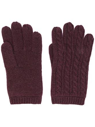Aspesi cable knit gloves - Vermelho