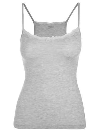 LOUNGERIE Camisete modal lace - Cinza