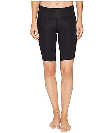 2XU Mid-Rise Compression Short (Black/Dotted Black Logo) Womens Shorts