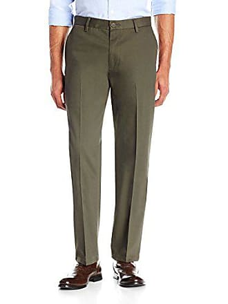 Goodthreads Mens Straight-Fit Wrinkle-Free Dress Chino Pant, Olive, 32W x 32L
