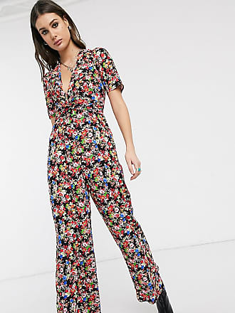 Asos Tall ASOS DESIGN Tall twist front jumpsuit in floral print-Multi