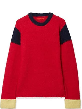 ECKHAUS LATTA Kermit Color-block Knitted Sweater - Red