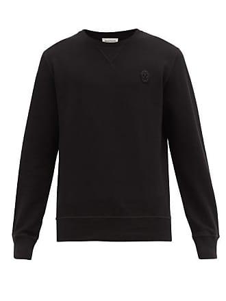 Alexander McQueen Alexander Mcqueen - Skull Embroidered Cotton Sweatshirt - Mens - Black
