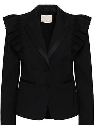 Rebecca Taylor Rebecca Taylor Woman Ruffled Stretch-wool Twill Blazer Black Size 0
