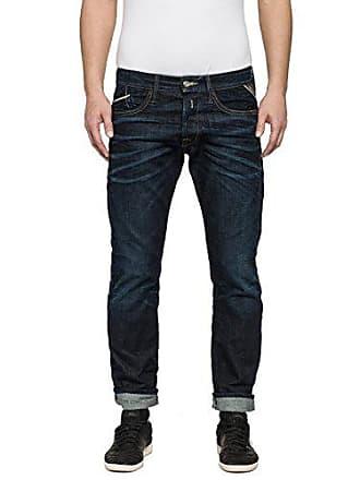 7617e6834163e Replay Waitom, Jeans Homme, Bleu-Blau (Blue Denim 7), W