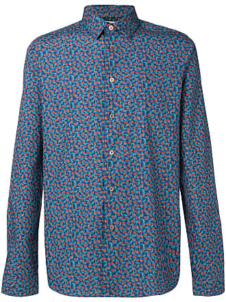 Paul Smith Camiseta estampada floral - Azul