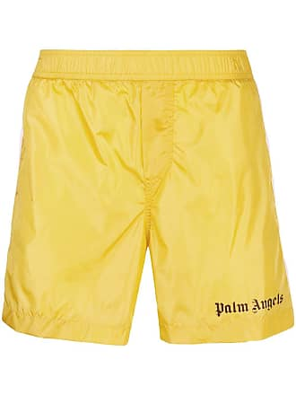 Palm Angels Track Board Shorts - Yellow