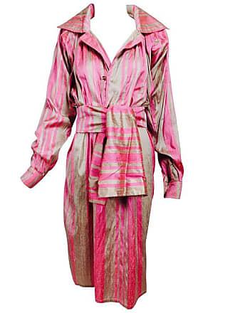 06038f5bfa3 1stdibs Vintage Raw Silk Pink bone Shift Dress With Wide Waist Wrap 1970s