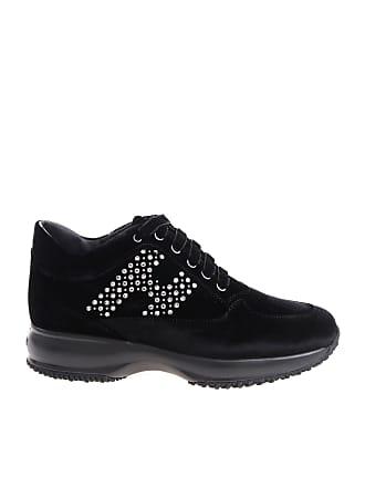 f1dbbec5542 Hogan Black Interactive sneakers with silver rhinestones