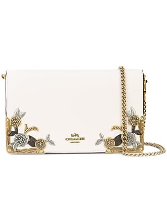 Coach foldover top clutch - White