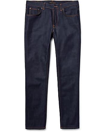 Nudie Jeans Lean Dean Slim-fit Dry Organic Denim Jeans - Dark denim