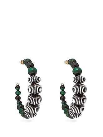 Etro Beaded Hoop Earrings - Womens - Green