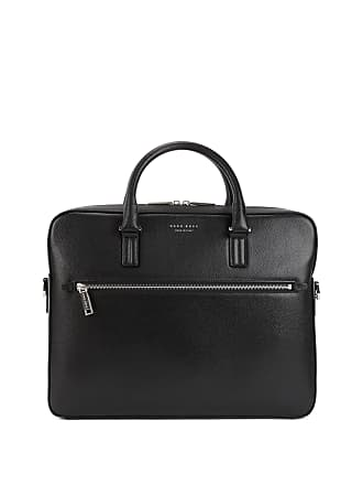 BOSS Hugo Boss Signature Collection document case in printed Italian calf leather One Size Black