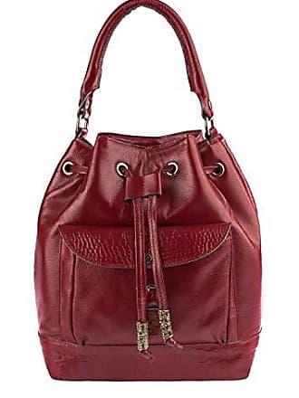 Andrea Vinci Bolsa saco com bolso em couro legítimo vermelha