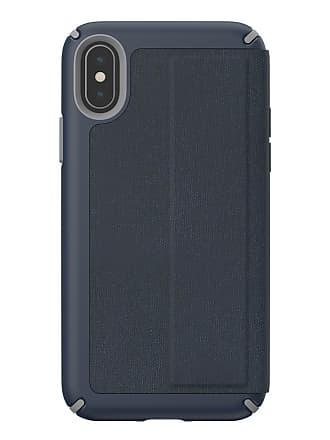SPECK Blue/Grey iPhone XS/X Presidio Folio Case