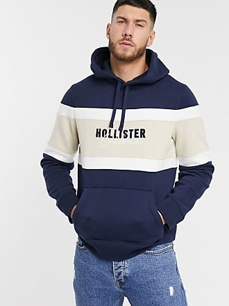 Hollister tech logo hoodie in navy