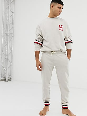 910393309 Delivery: free. Tommy Hilfiger joggers with icon stripe cuff detail in  oatmeal