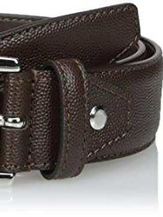 BUGATCHI Mens Mini Grained Leather Belt