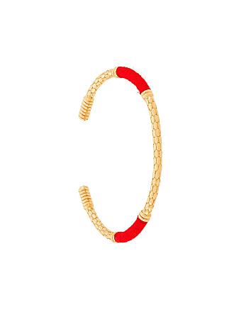 Aurélie Bidermann Bracelete com contraste - Dourado