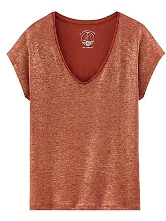 3f3bc9158fa Petit Bateau Tee-shirt manches courtes uni femme en lin irisé