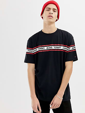b610eeab Tommy Jeans relaxed fit t-shirt with chest and sleeve taping in black