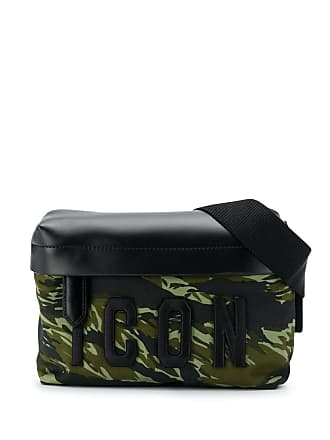 259a6f6c5 Dsquared2 Bolsa Icon com estampa camuflada - Verde