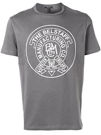 Belstaff Camiseta com logo - Cinza