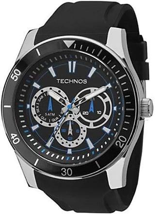 Technos Relógio Masculino Technos 6P29AIQ/8P Prata/Preto