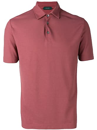 Zanone short sleeved polo shirt - Red