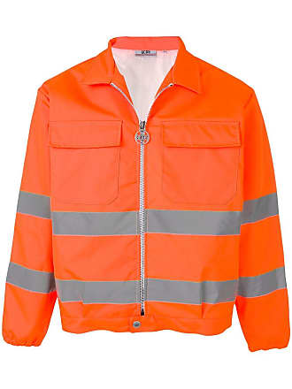 GCDS contrast stripe jacket - Orange