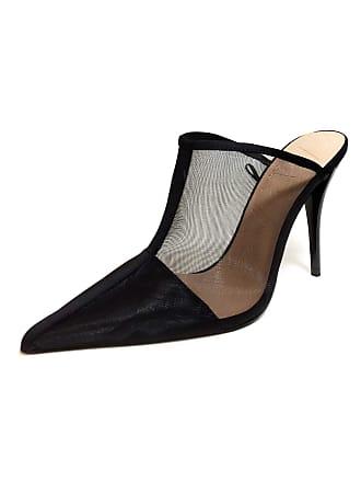 d1e30045f5b ZARA Womens Mesh high-Heel Mules 3222 001 (7 UK) Black