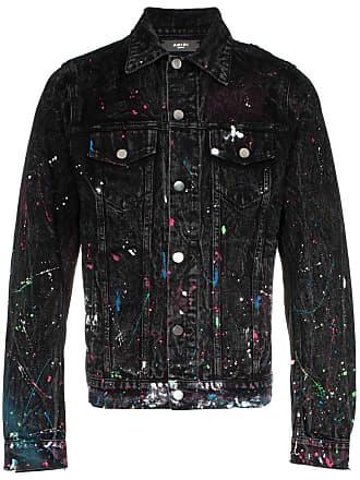 Amiri paint splatter print denim jacket - Black