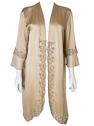 1stdibs A Vintage Silk Satin Lingerie Robe With Black Lace Trim c19679f4a