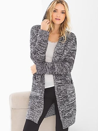 Barefoot Dreams Cozychic Cali Open Jacket, Black/White, Size M, from Soma