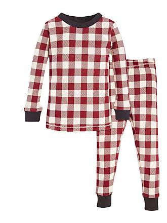 Burt s Bees Baby Buffalo Check Organic 2-piece Baby Holiday Matching Pajamas  Cranberry 12 Months d250fc3ca