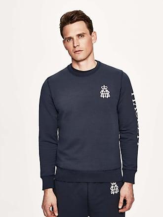 Henley Royal Regatta Mens Printed Stretch-Cotton Sweater   XS   Navy
