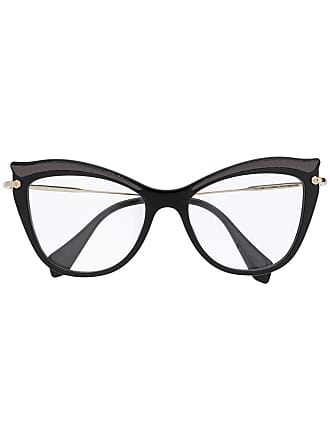 Miu Miu Eyewear cat eye glasses - Preto