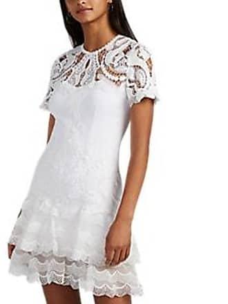 b34d6b9991 Jonathan Simkhai Womens Lace-Inset Crepe Minidress - White Size 12